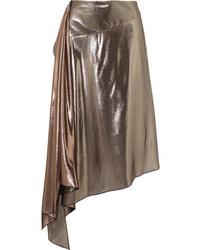 Givenchy Asymmetric Lam Midi Skirt