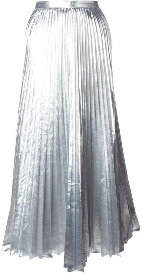 71703f2acae315 DKNY Pleated Maxi Skirt, $233 | farfetch.com | Lookastic.com