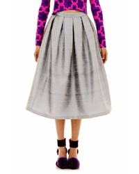 House of Holland Houseofholland Silver Skirt