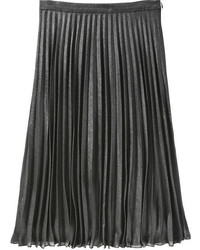 Joe Fresh Metallic Pleat Skirt Silver