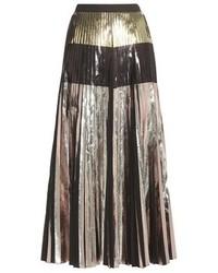 Proenza Schouler Metallic Pleated Midi Skirt