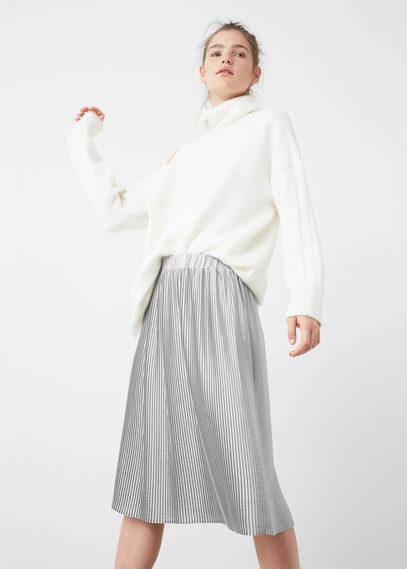 18beb1da1 Mango Pleated Midi Skirt, $79 | Mango | Lookastic.com