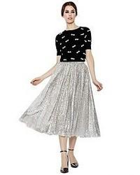 Alice + Olivia Justina Sequin Tulle Ballerina Skirt