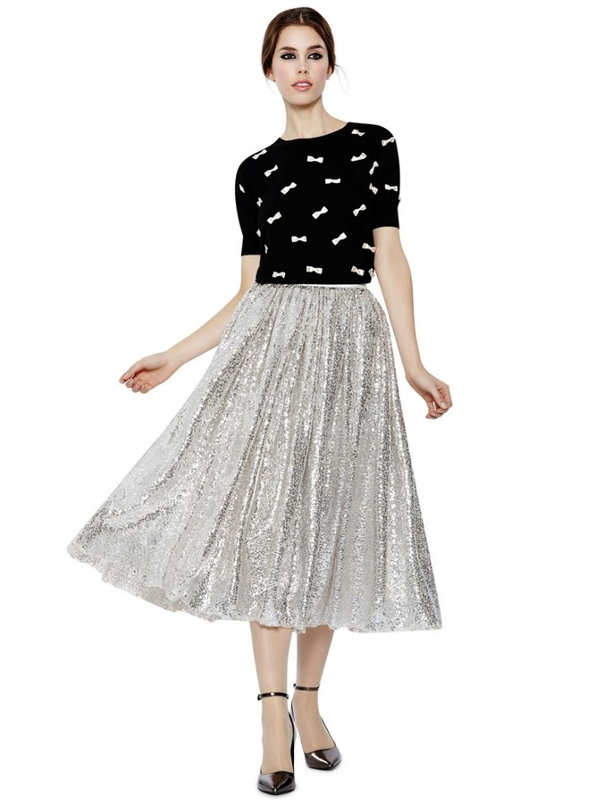Alice   Olivia Justina Sequin Tulle Ballerina Skirt | Where to buy ...