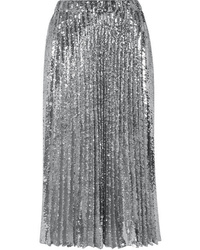 Philosophy di Lorenzo Serafini Pleated Sequined Tulle Midi Skirt