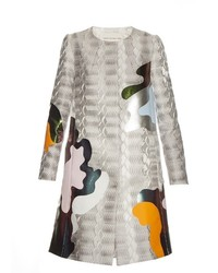 Mary Katrantzou A Line Framis Print Jacquard Coat
