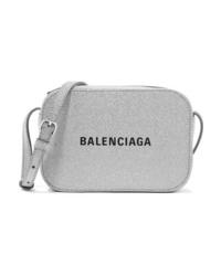 Balenciaga Everyday Xs Aj Printed Glittered Leather Camera Bag