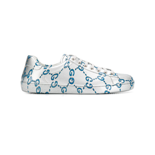 a10e61779a8 ... Print Leather Low Top Sneakers Gucci Ace Gg Sneakers ...