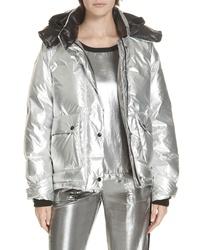 Rag & Bone Aiden Metallic Puffer Coat
