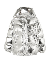MM6 MAISON MARGIELA Oversized Quilted Metallic Shell Down Jacket