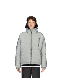Givenchy Silver Reflective Puffer Jacket