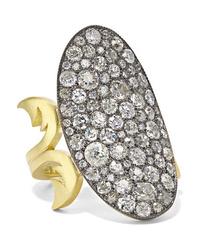 Sylva & Cie 18 Karat Gold Sterling Silver And Diamond Ring