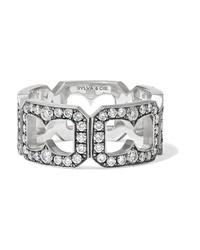 Sylva & Cie 18 Karat White Gold Diamond Ring