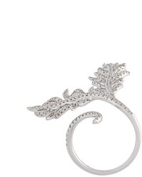Elise Dray Diamond Leaf Ring