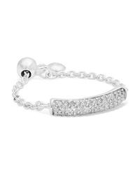 Monica Vinader Fiji Sterling Silver Diamond Ring