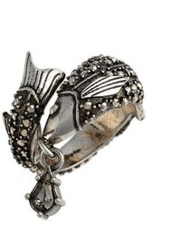 Alexander McQueen Jeweled Fish Ring