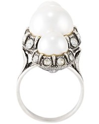 Lanvin Faux Pearl Ring