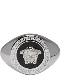 Versace Silver Medusa Medallion Ring