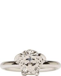 Versace Silver Slim Medusa Ring