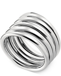 Calvin Klein Stainless Steel Polished Ribbed Ring