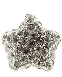 Marc by Marc Jacobs Star Pave Crystals Statet Ring Silver Os