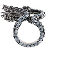 Lanvin Swan Ring