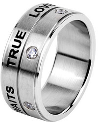 West Coast Jewelry Wcj Ss342 Silver Stainless Steel Rings