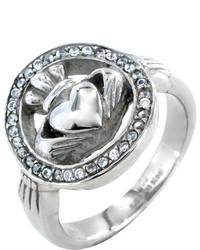 West Coast Jewelry Wcj Ss348 Silver Stainless Steelcubic Zirconia Rings