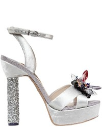 Sophia Webster 130mm Glacia Crystals Velvet Sandals