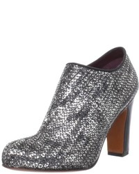 Silver Sequin Ankle Boots