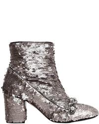 70mm embellished sequins ankle boots medium 6465631