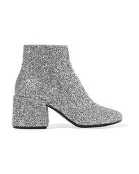 MM6 MAISON MARGIELA Bead Embellished Leather Ankle Boots