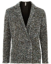 Topshop Sequin Double Breasted Blazer