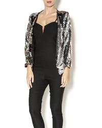 Sylk cropped sequin blazer medium 377873