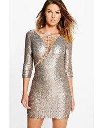 Boohoo Boutique Elly All Over Sequin Bodycon Dress