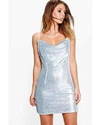 Boohoo Boutique Inya Sequin Cowl Neck Slip Dress
