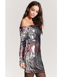 Forever 21 Ombre Sequin Mini Dress