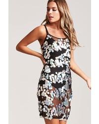 Forever 21 Sheer Mesh Sequin Dress