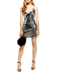 Topshop Foil Sequin Minidress