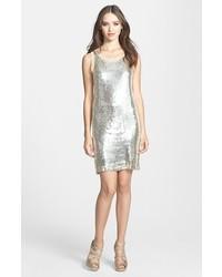 Alexia Admor Sequin Silk Chiffon Tank Dress