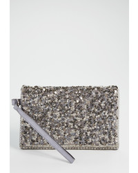 Maurices Sequin Clutch With Metallic Stitching