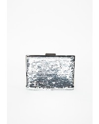 Missguided Orlaith Sequin Square Chain Clutch Silver