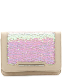 French Connection Vanessa Sequined Clutch Bag Iridescent