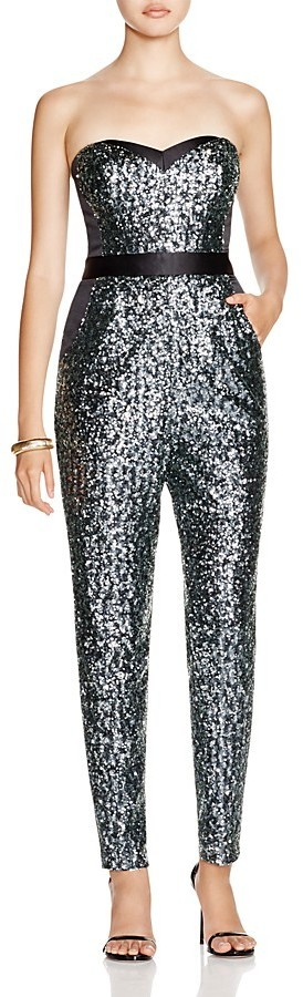 Milly strapless sequined jumpsuit where to buy amp how to wear