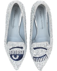 Silver Sequin Loafers