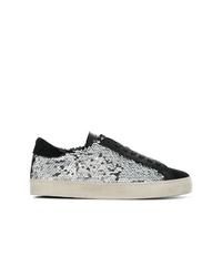 D.A.T.E Lace Up Sequin Sneakers
