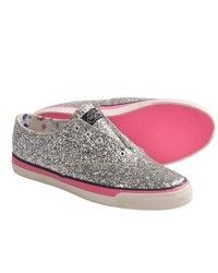 Sperry Top-Sider Cvo Laceless Sneakers Slip Ons Silver Glitter