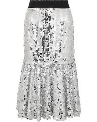 Dolce & Gabbana Paillette Embellished Tulle Midi Skirt