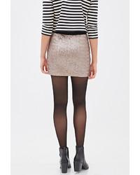 db438f0567 Forever 21 Contemporary Sequined Mini Skirt, $24 | Forever 21 ...