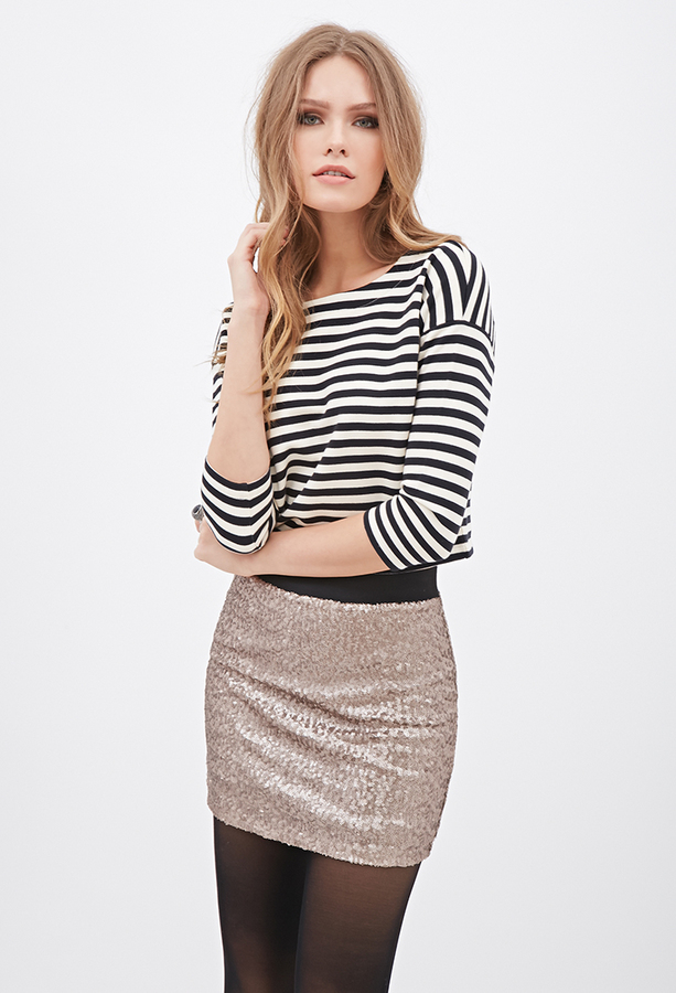 36d8788c31 Forever 21 Contemporary Sequined Mini Skirt, $24 | Forever 21 |  Lookastic.com